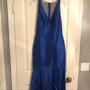 Royal Blue Adrianna Papell Gown